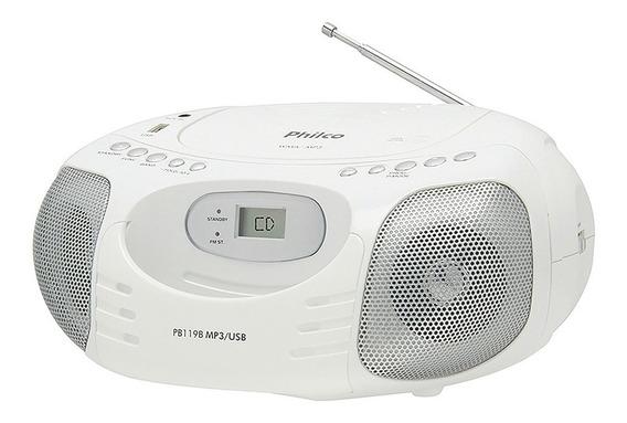 Rádio Portátil Philco Pb119b Cd | Cd-r/rw | Mp3 |wma