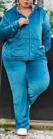 Conjunto Malha Plush Feminino Plus Size Tamanho Grande