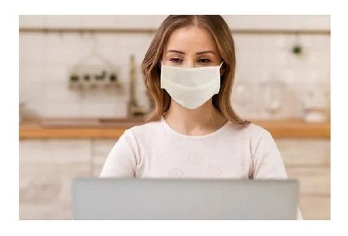 Imagem 1 de 2 de Máscara De Proteção Tnt Duplo C/ Clipe Nasal 10 Unid Chantal