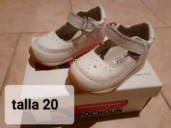Zapatos De Niña Pocholin No.20 Poco Uso