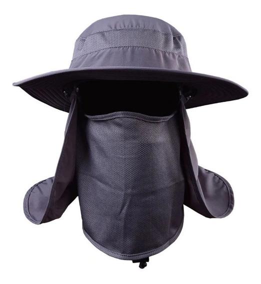 Sombrero P Sol Con Proteccion Cuello Y Cara Uv Playa Campo