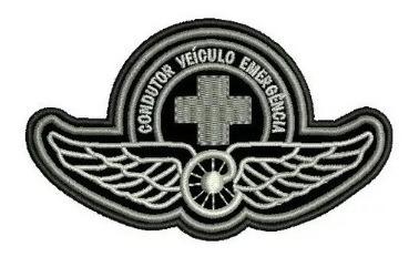 Patch Asa Condutor Emergencia Breve Tarja - Bordado Termocol