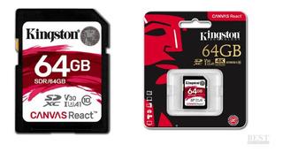 Cartão Memória Kingston Sdxc 64gb Canvas React - Sdr/64gb