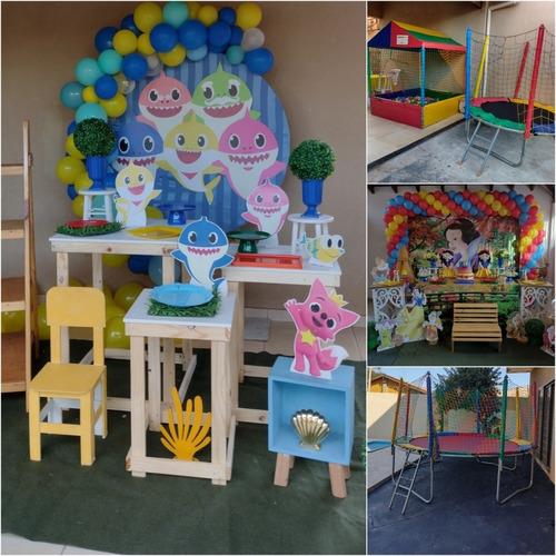 Imagem 1 de 1 de Decoração Para Festa Baby Shark + Pula Pula