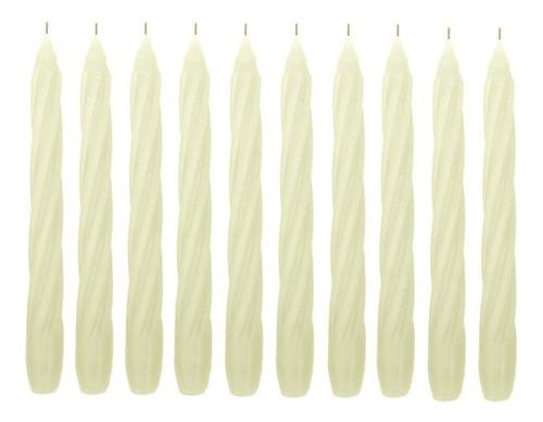 10 Velas Espiral 20 Cm 11 Cores De Vela Decoração Festa Casamento Decorativo Vela Comprida De Castiçal Furada Linda