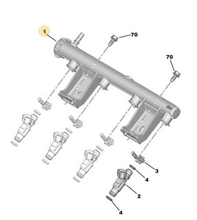 Rampa Alimentación Inyector Peugeot 208
