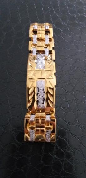 Bracelete Diamond Zeus Aço Cirúrgico E Aço Dourando Tribali