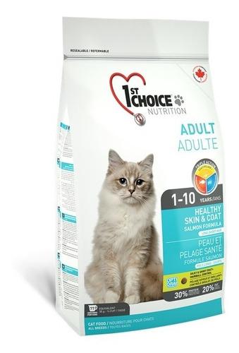 Alimento Gato 1st Choice Adulto Salmón 5.44 Kg Canadiense