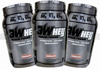 Combo 3 X Whey Protein Isolado 3w 907g Way Proten