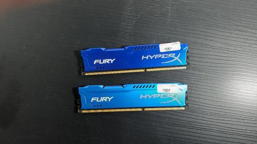 Memória Kingston Hyperx Fury 4gb 1600mhz Ddr3 (seminovo)