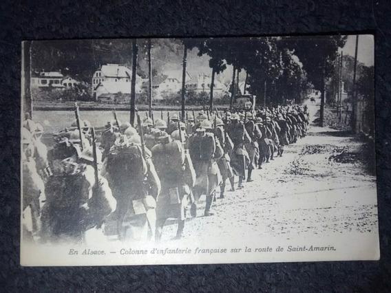 Postal Gran Guerra - Infanteria Francesa