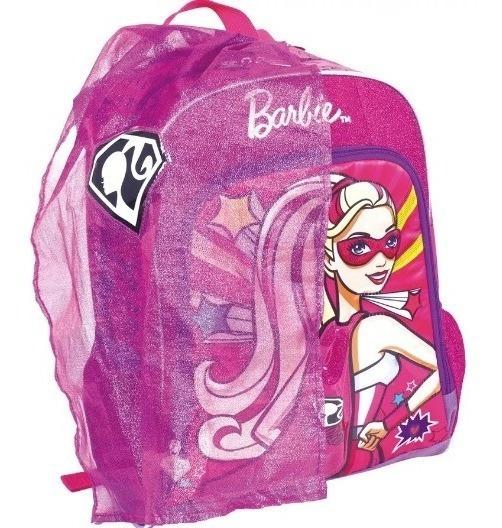Mochila Feminina Infantil Barbie Sup. Princesa Com Capa