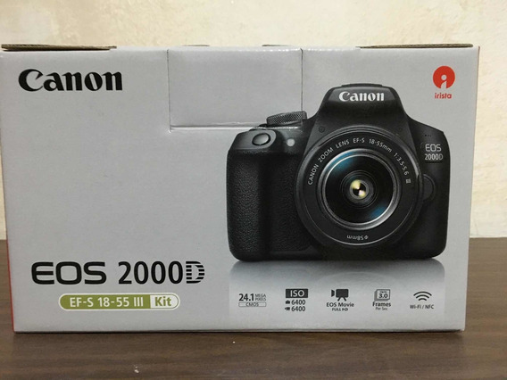 Camara Dslr Digital Canon Rebel T7 Eos 2000d Como Nueva 24mp