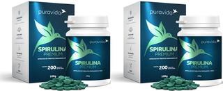 Kit 2x Spirulina Premium Puravida, 200 Table, Pura Vida Full