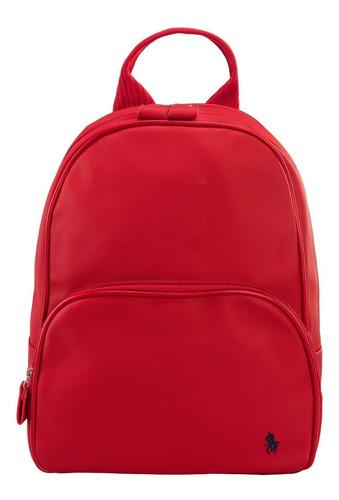 Imagen 1 de 8 de Backpack Hpc Polo Texturizada Con Logo De La Marca