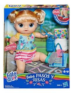 Baby Alive Bebé Pasos Y Risas Rubia