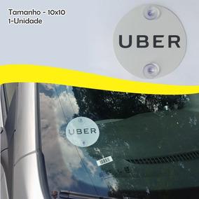 Placa Indicativa Uber 1 Unidade - Com Ventosa (adesivo)