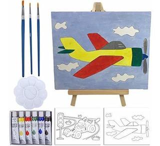 Set De Pintura Para Niños Y Caballete De Pintura: Kit De Pi