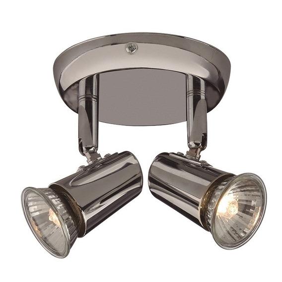 Luminária Spot Sobrepor New Short Cromado 50w 2xgu10 220v