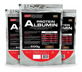 Kit 3x Albumina Protein 500g - Total 1,5kg