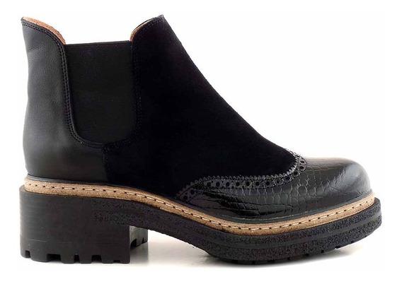 Bota Cuero Mujer Botita Briganti Zapato Borcego - Mcbo24748