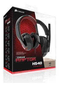 Headset Gamer Corsair Raptor Hs40 7.1 Surround Usb Preto/ver