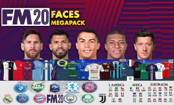 Football Manager 2020 Fm 2020 Mega Pack Faces, Rostos, Kits