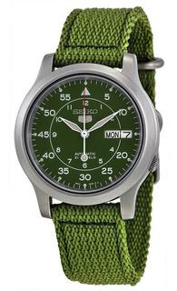 Seiko 5 Militar Automatic Green Nylon Snk805 Fotos Reales
