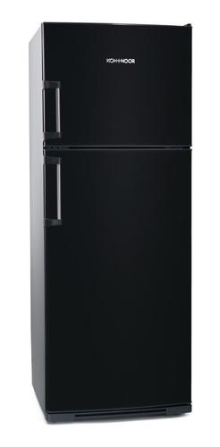Imagen 1 de 3 de Heladera Koh-i-noor KHD43/7 negra mate con freezer 413L 220V