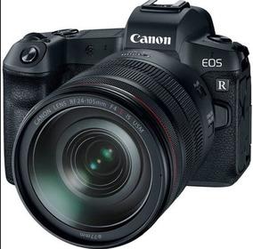 Câmera Canon Eos R Mirrorless Com Lente Rf 24-105mm Lacrado