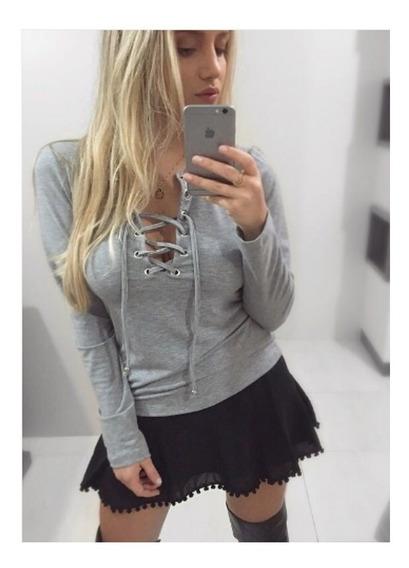 Roupa Feminina/blusa Ilhos Mescla