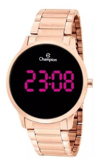 Relógio Feminino Rose Digital Lançamento Grande Champion