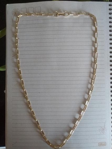 Corrente De Moeda Antiga C/ Banho De Ouro 23gr E 60cm