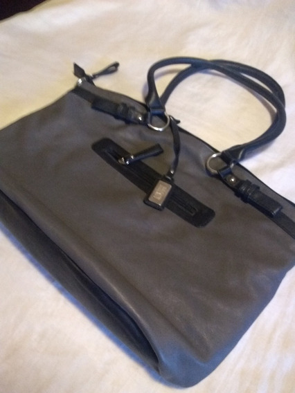 Cartera Mujer Gris Oscuro Mediano