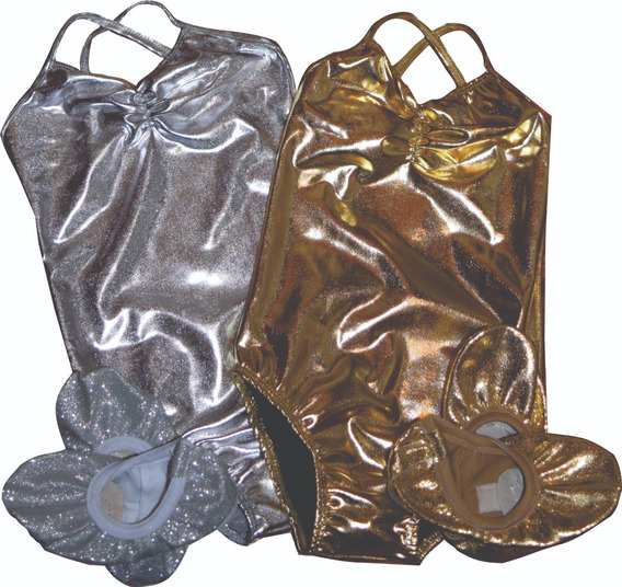 Tutu O Pollerin + Zapatillas Glitter Media Punta Suela Dividida + Malla Breteles Ballet Danza Soko