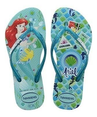 Havaianas Meninas Slims Princess Ariel