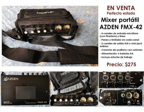 Mixer Portátil Azden Fmx-42