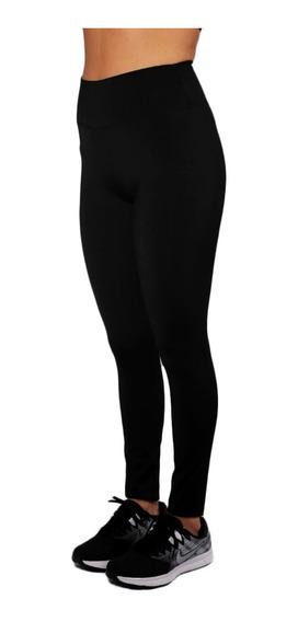 Calza Negra Suplex Faja Alta Modeladora Especial Fitness