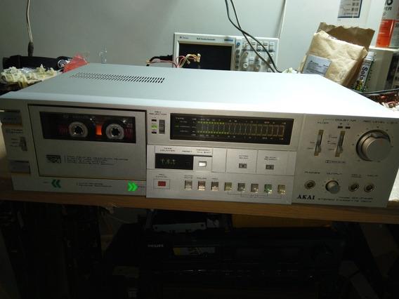 Tape Deck Akai Autoreverso Super Gx-f44r Não Sony,pionner,