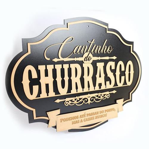 Imagem 1 de 4 de Cantinho Do Nome Personalizado Churrasco Guerreiro Placa Mdf
