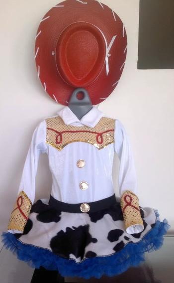 Disfraz Vaquerita Jessie Toy Story Tallas 8, 10, 12 Sombrero