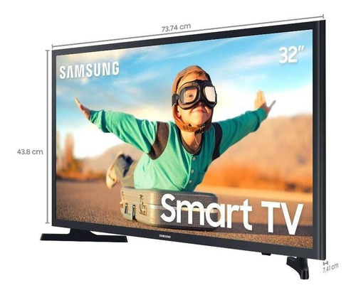 Imagem 1 de 1 de Smart Tv Samsung 32  Led Hd Un32t4300