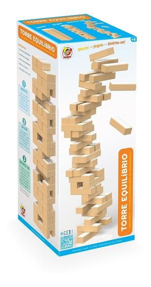 Jogo Torre Equilíbrio Brinquedo Madeira Estilo Jenga Junges