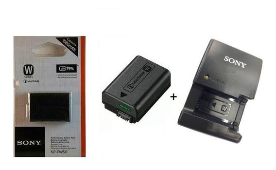 Kit Bateria Np-fw50 + Carregador Sony Bc-vw1 Nex3 Nex-5 A37k