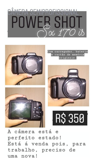 Câmera Semiprofissional Power Shot Sx170 Si