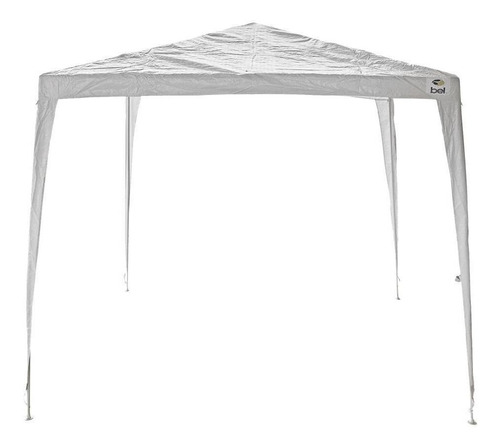 Tenda Gazebo Branco Em Polietileno 3x3 Desmontável Bel Fix