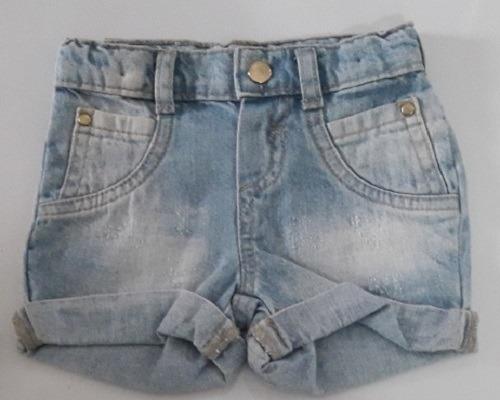 Short Jeans Bebê Menina Dindon