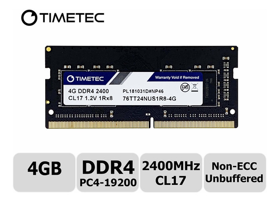 Memoria Ram 4gb Timetec Hynix Ic Ddr4 Sodimm Para Intel Nuc Kit/mini Pc/htpc/nuc Board 2400mhz Pc4-19200 Non Ecc Unbuffe