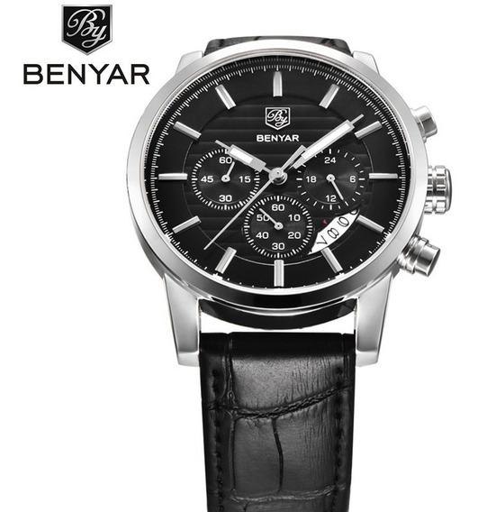 Relógio De Luxo Masculino Benyar By-5104m