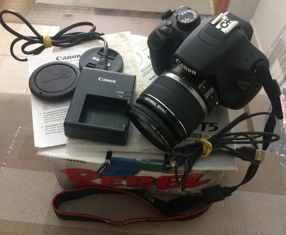 Máquina Fotográfica Eos Rebel Canon T5 + Brinde